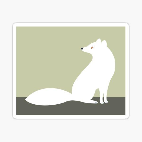 White Arctic Fox Sticker