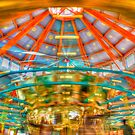 Carousel at Pullen park by vasu