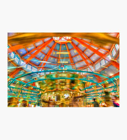 Carousel at Pullen park Photographic Print