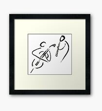 cello & oboe (haiga IX)  Framed Print