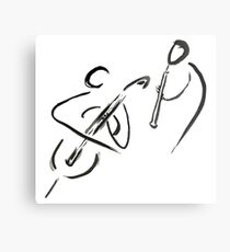 cello & oboe (haiga IX)  Metal Print