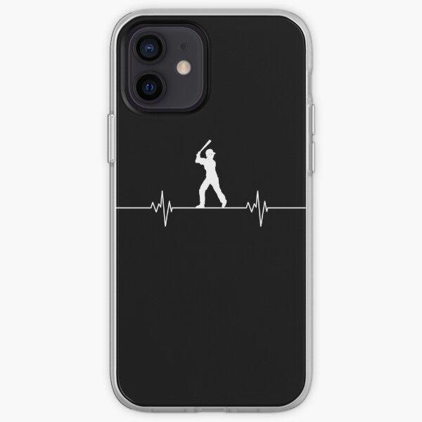Baseball heartbeat iPhone Soft Case