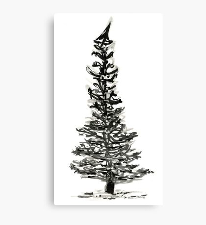 evergreen (haiga X) Canvas Print
