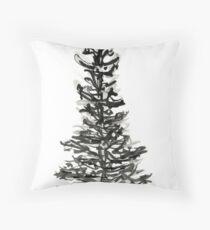 evergreen (haiga X) Throw Pillow