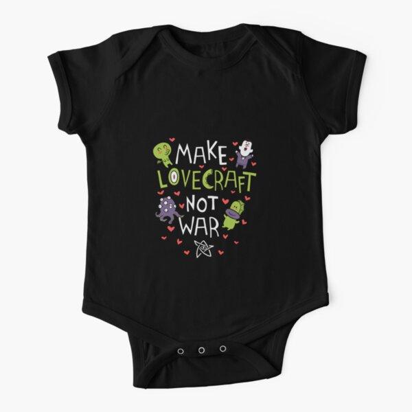 Make Lovecraft, Not War Short Sleeve Baby One-Piece