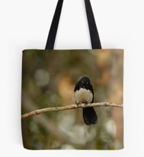 Watchful Willy Wagtail Tote Bag