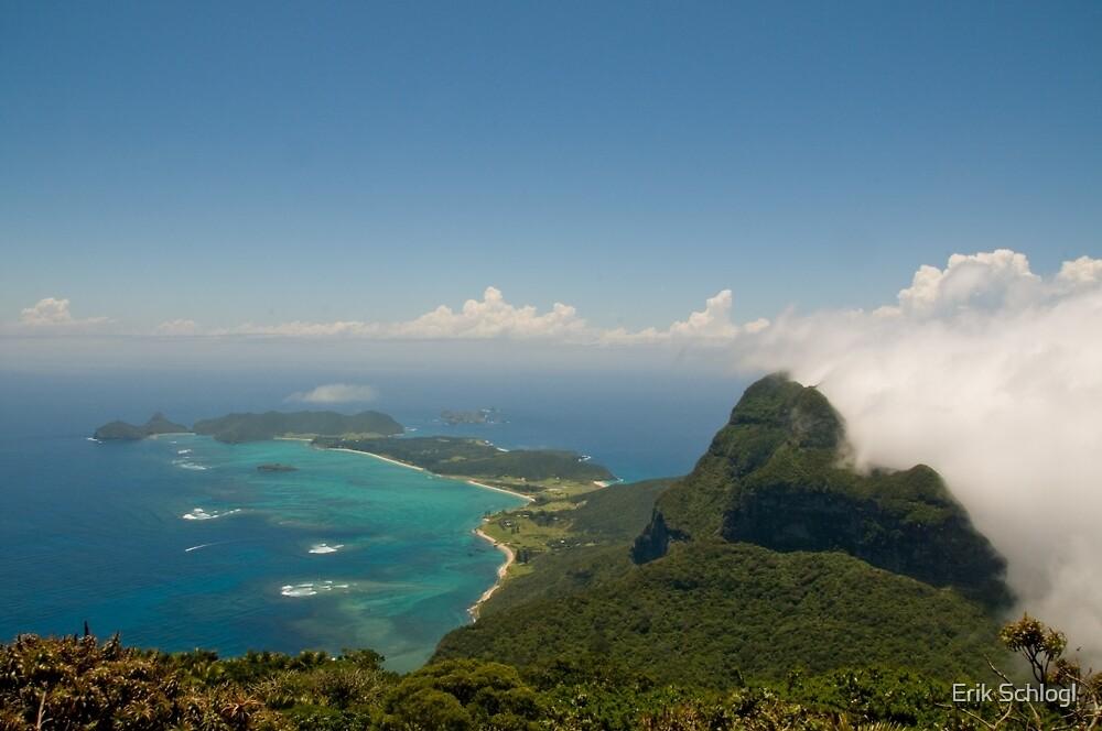 Lord Howe Island from Mount Gower by Erik Schlogl