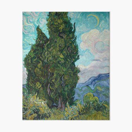 Vincent Van Gogh Cyprus Cypruses Cyprusses tree trees Art Board Print