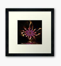Flower Ribbon Framed Print