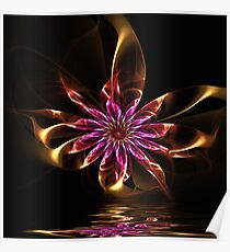 Flower Ribbon Poster