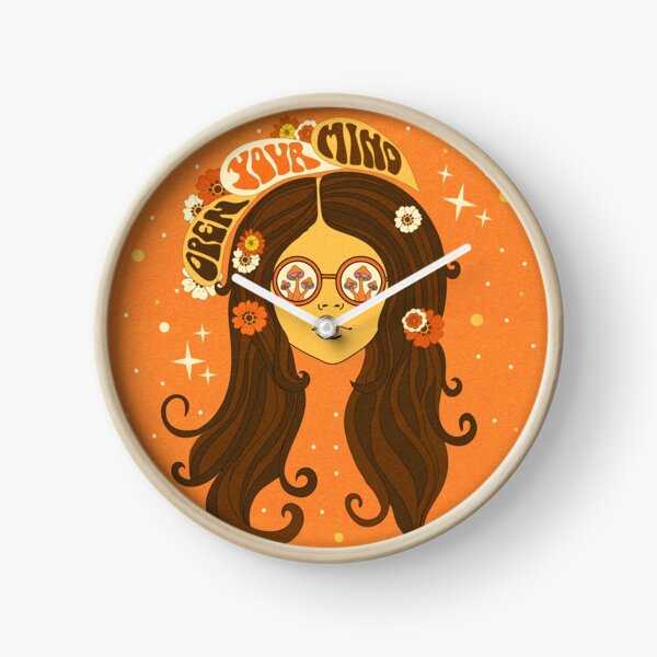 Psychedelic 70s Girl, Open Your Mind Clock