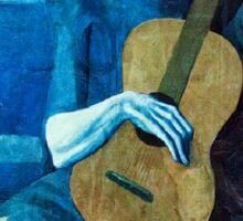 Picasso, The Old Guitarist Sticker