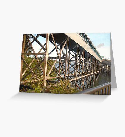 Bridge Near Bainbridge(Seattle,WA) Greeting Card