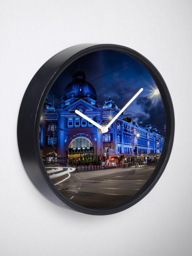 Alternate view of Flinders Street Station, Melbourne Clock