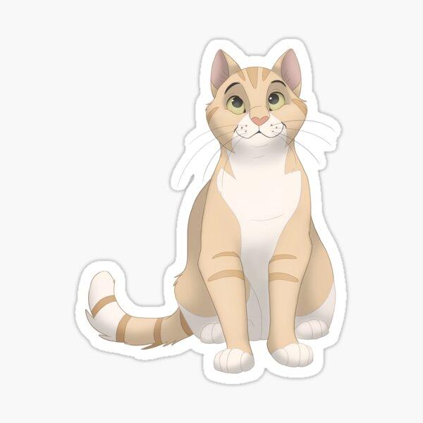 Red striped shorthair cat Sticker