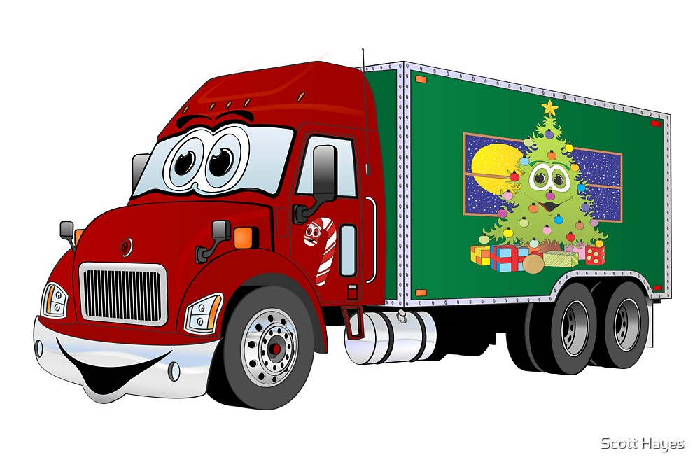 Christmas Delivery Truck by Graphxpro