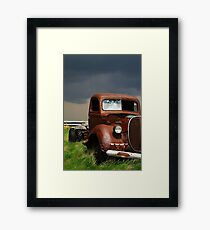 Broken Windshield Framed Print