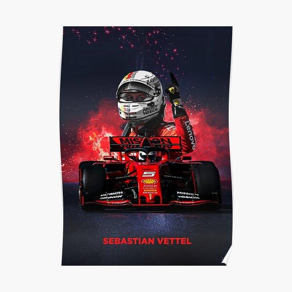 Sebastian Vettel Formula 1 poster Poster