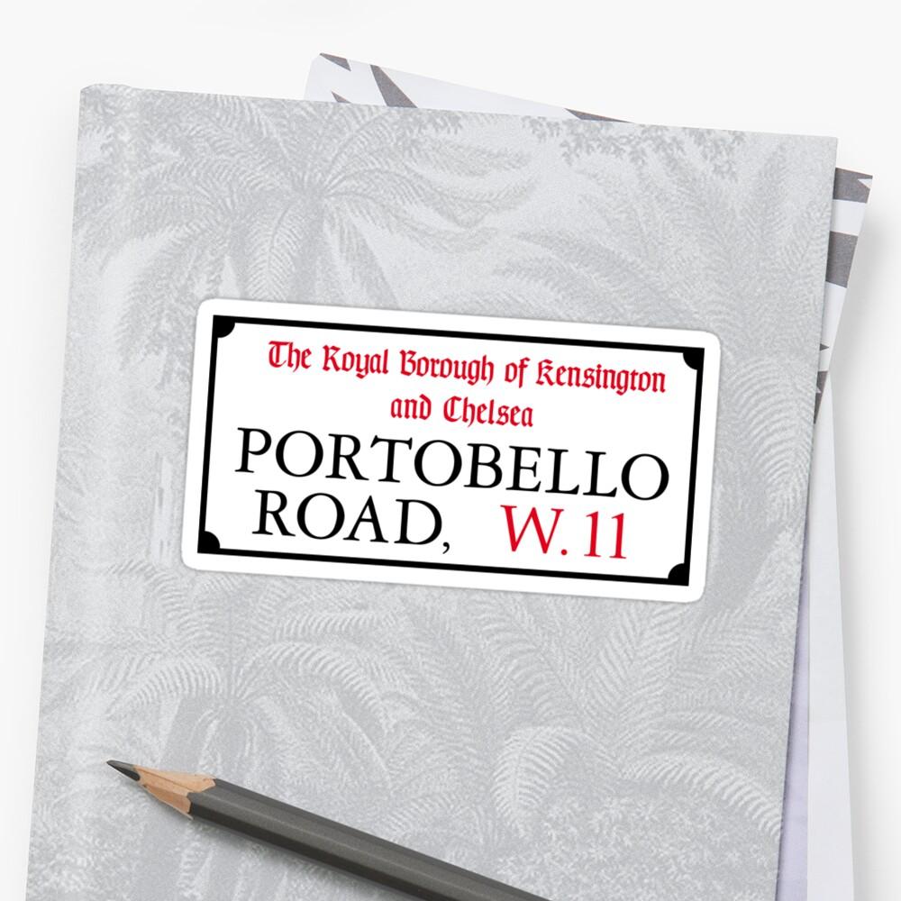 Portobello Rd, London Street Sign by worldofsigns