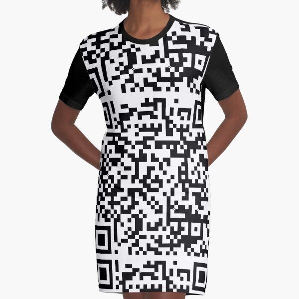 leo • theo | Qr code Graphic T-Shirt Dress