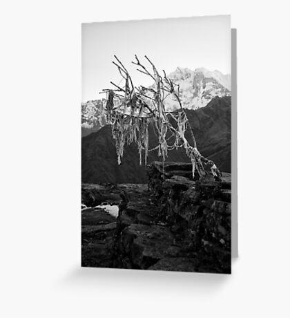 Dhaulagiri Range, Himalayas, Nepal Greeting Card