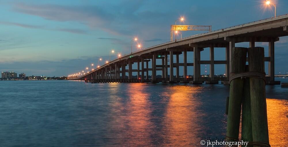 Evening at Hancock Bridge  by John  Kapusta