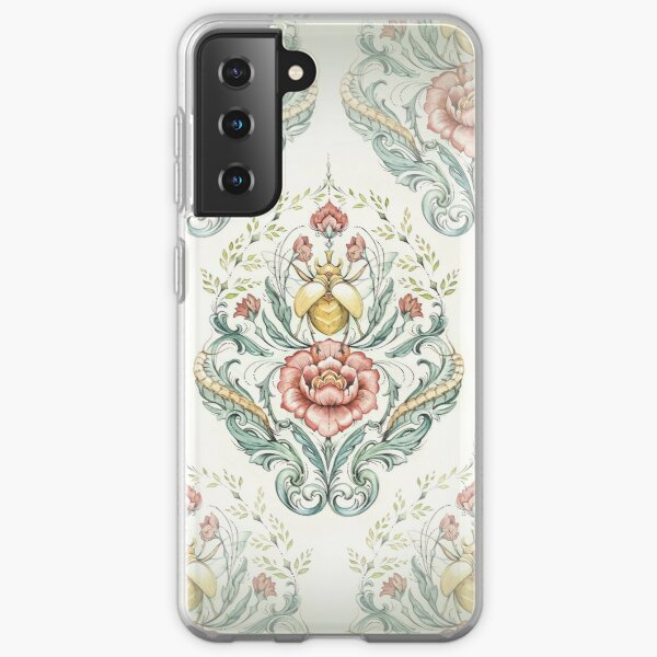 Antique pattern - Beetle and centipedes Samsung Galaxy Soft Case