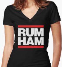Rum Ham - Always Sunny in Philadelphia Women's Fitted V-Neck T-Shirt
