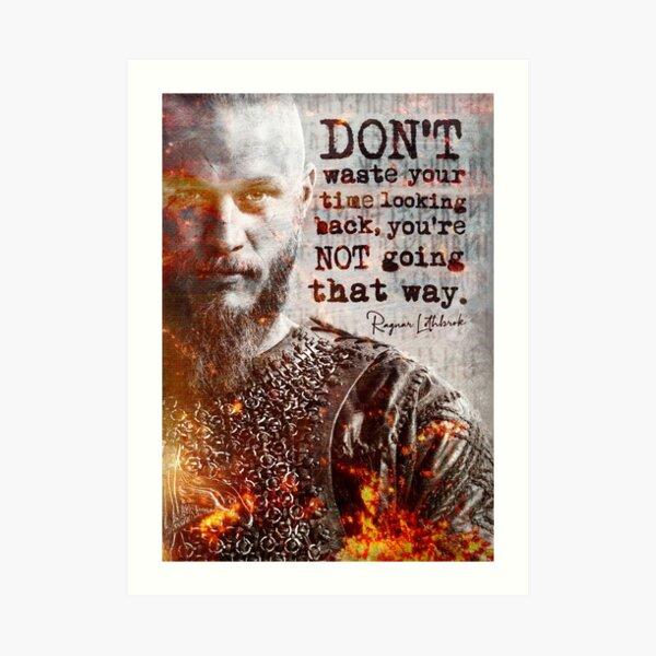 Vikings de Ragnar Lothbrok | Affiche de motivation d'inspiration d'art souterrain d'impression de citation Impression artistique
