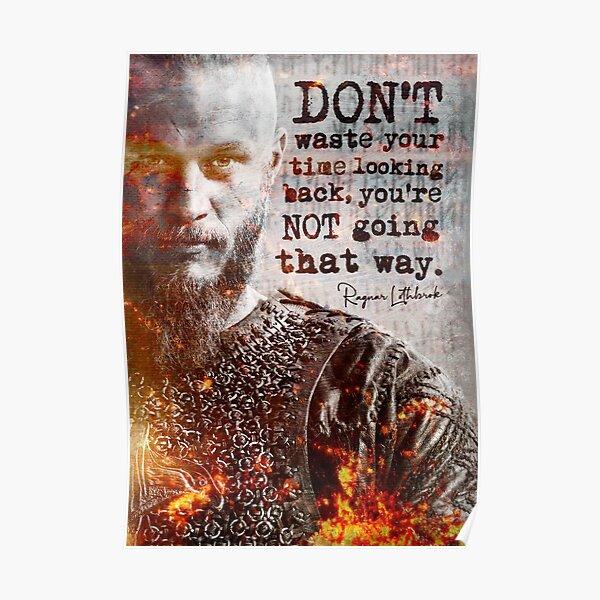 Ragnar Lothbrok Vikingos | Cita inspiradora Underground Art Print Motivational Poster Póster