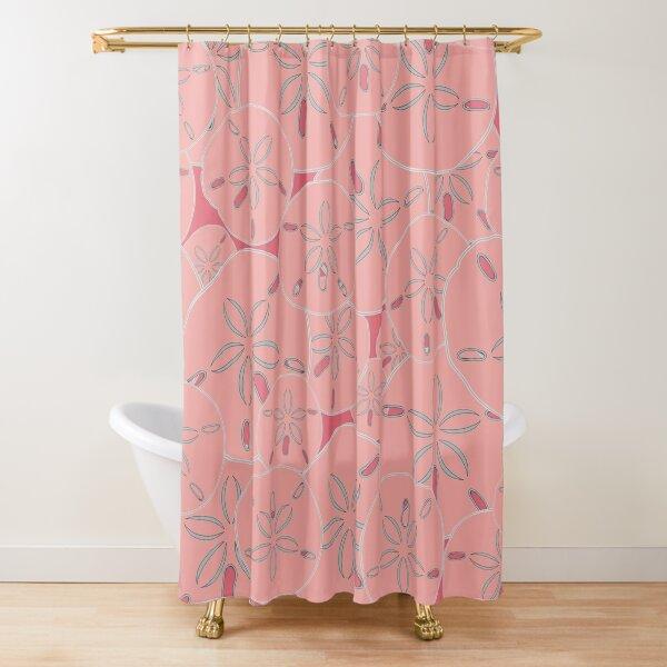 Pink Sand Dollars  Shower Curtain