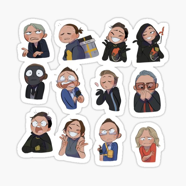 Death stranding characters  Sticker