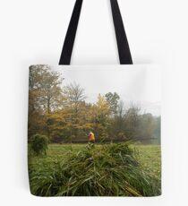 At work on the grasslands Tote Bag