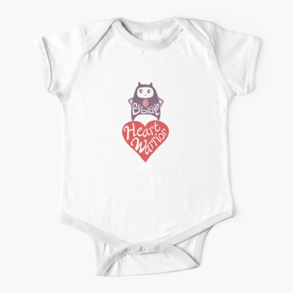 Be Brave Heart Warrior Short Sleeve Baby One-Piece