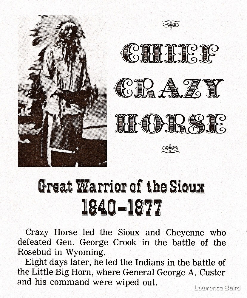 Chief Crazy Horse by Lawrence Baird