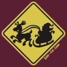 Warning Santa Claus Ahead! by Zoo-co