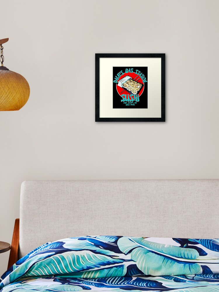 Dale S Gas Station Sushi Framed Art Print By Bad Dice Redbubble Gas station sushi horse rating and status. dale s gas station sushi framed art print by bad dice redbubble