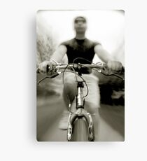 Bicycling Canvas Print