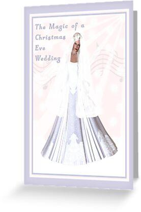Christmas Eve Wedding Invitation by Rosalie Scanlon