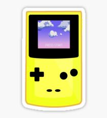 Yellow Gameboy Sticker