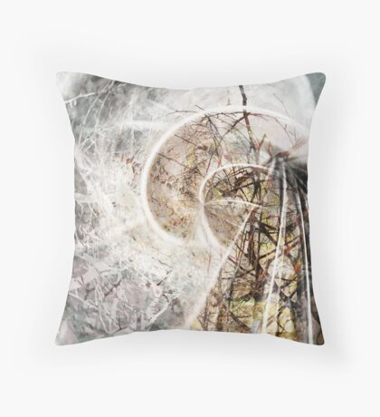 The Vortex of Winter Throw Pillow