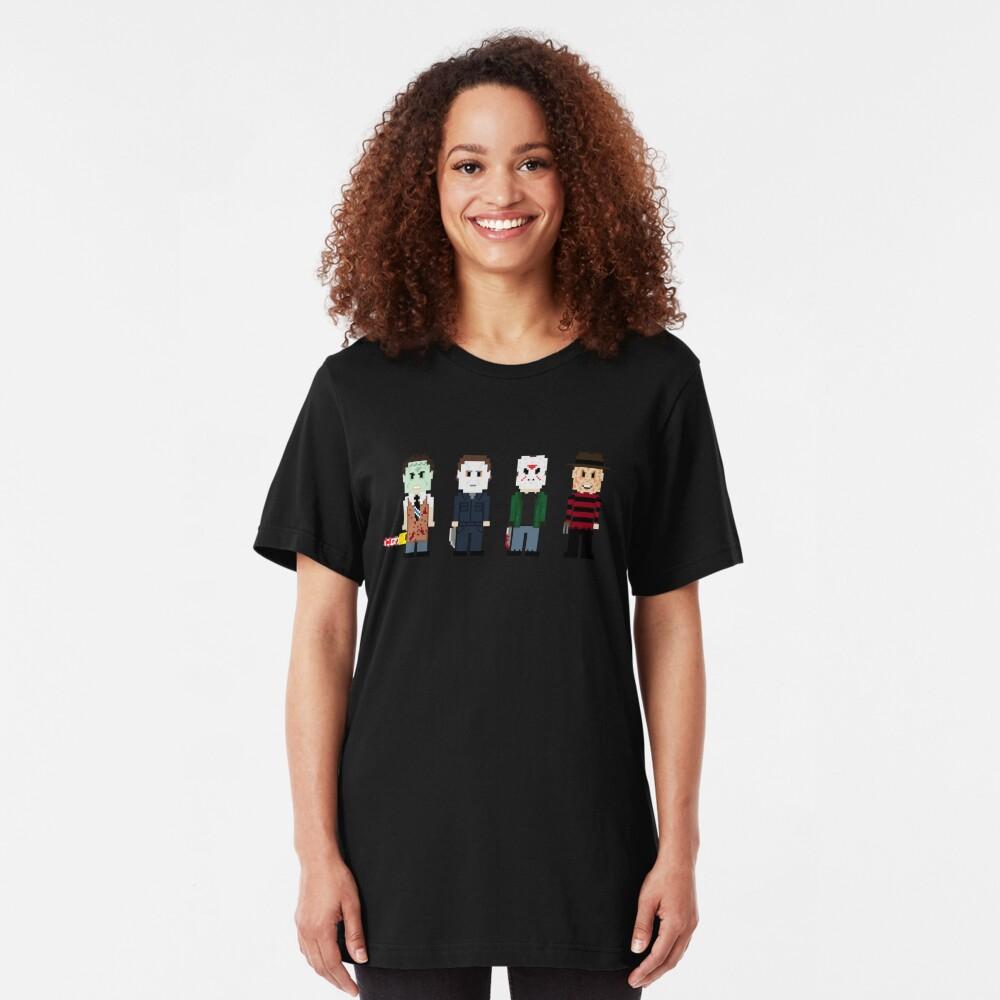 8-Bit Monsters! Slim Fit T-Shirt