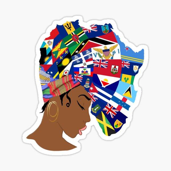 Afro Caribbean Queen  Sticker