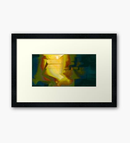 Like a light in the midst of night Framed Print