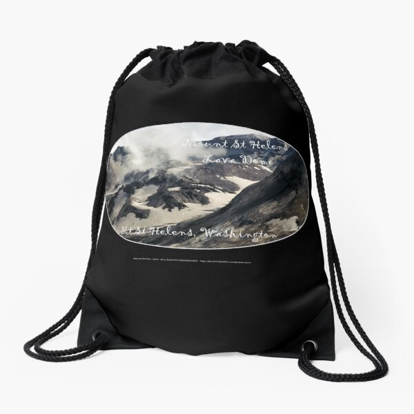 Mount St Helens lava dome closeup oval Drawstring Bag