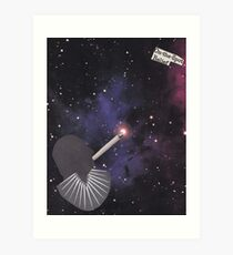 Smoking Space Art Print