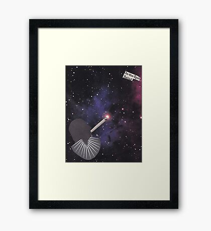 Smoking Space Framed Print