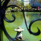 Peek of Koi Pond at Belle Isle Conservatory by anitahiltz