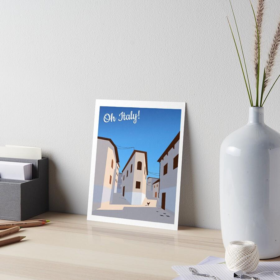 Oh Italy!  Art Board Print