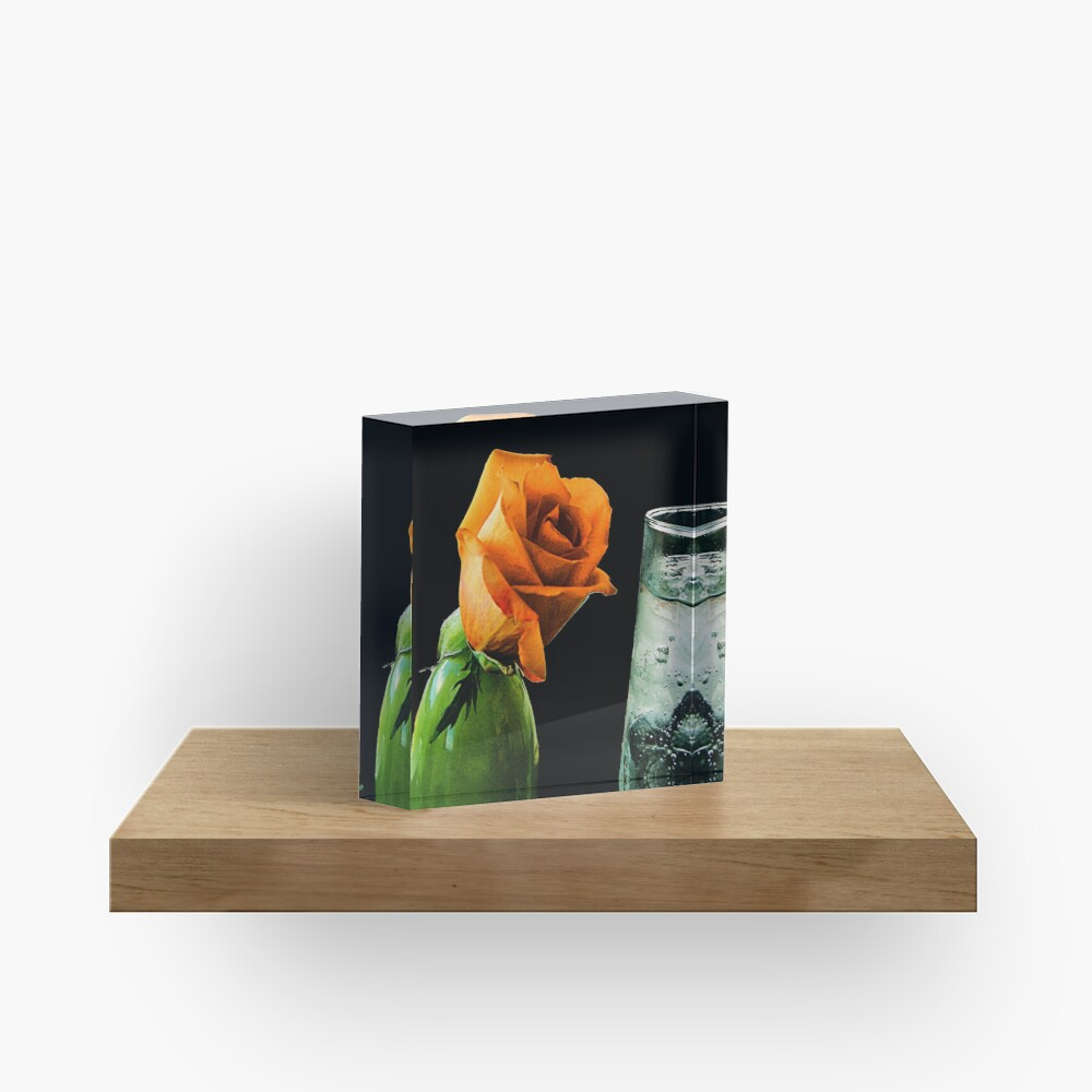The Thirsty Rose Acrylic Block